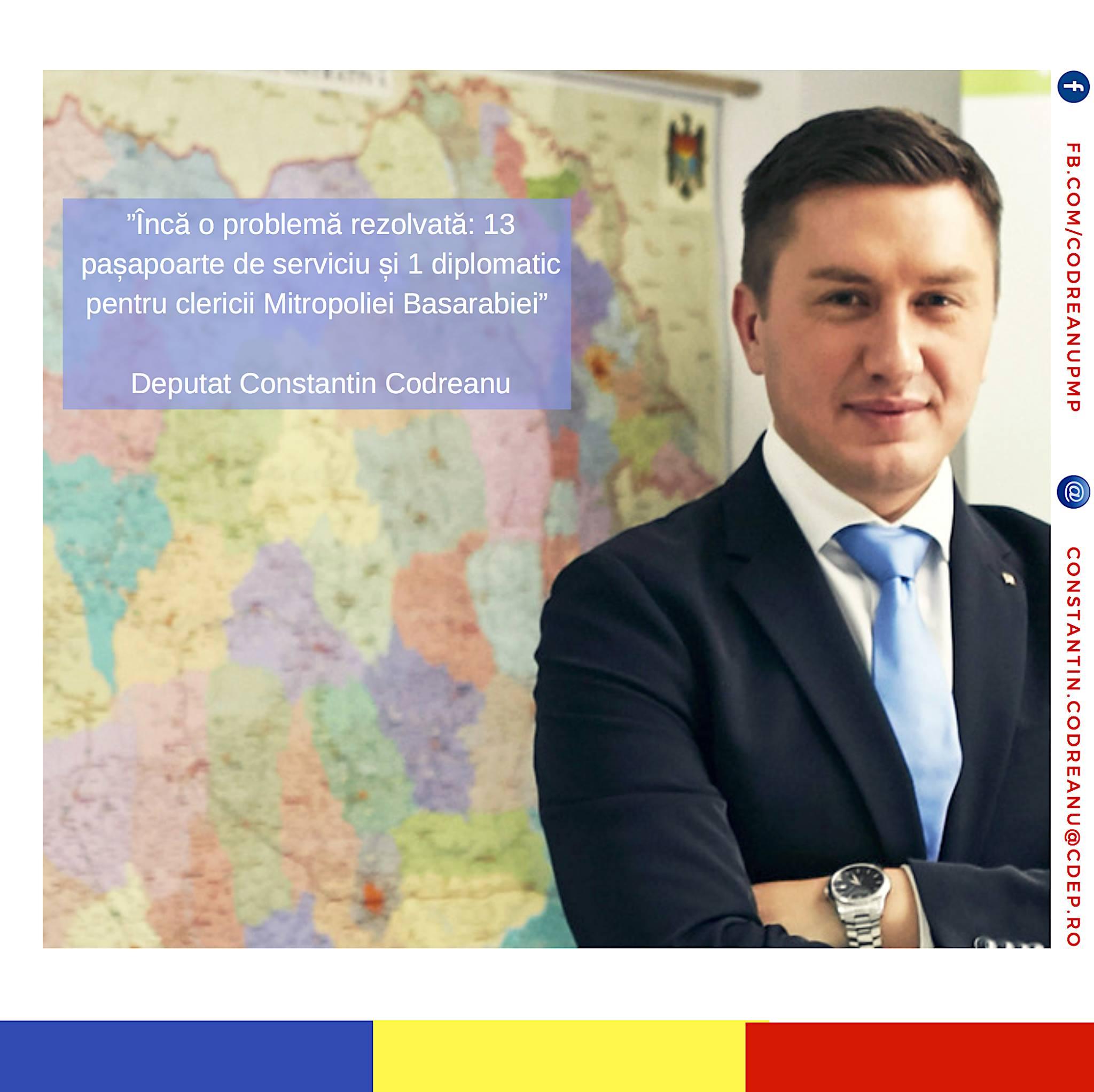 VIDEO Deputat Constantin Codreanu- pasapoarte de serviciu clericii Mitropoliei Basarabiei