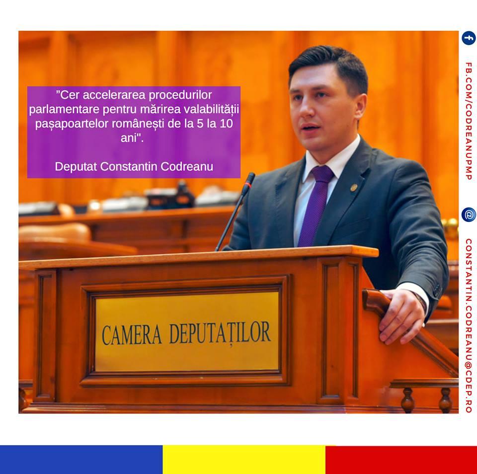Constantin Codreanu Pasapoarte romanesti valabilitate
