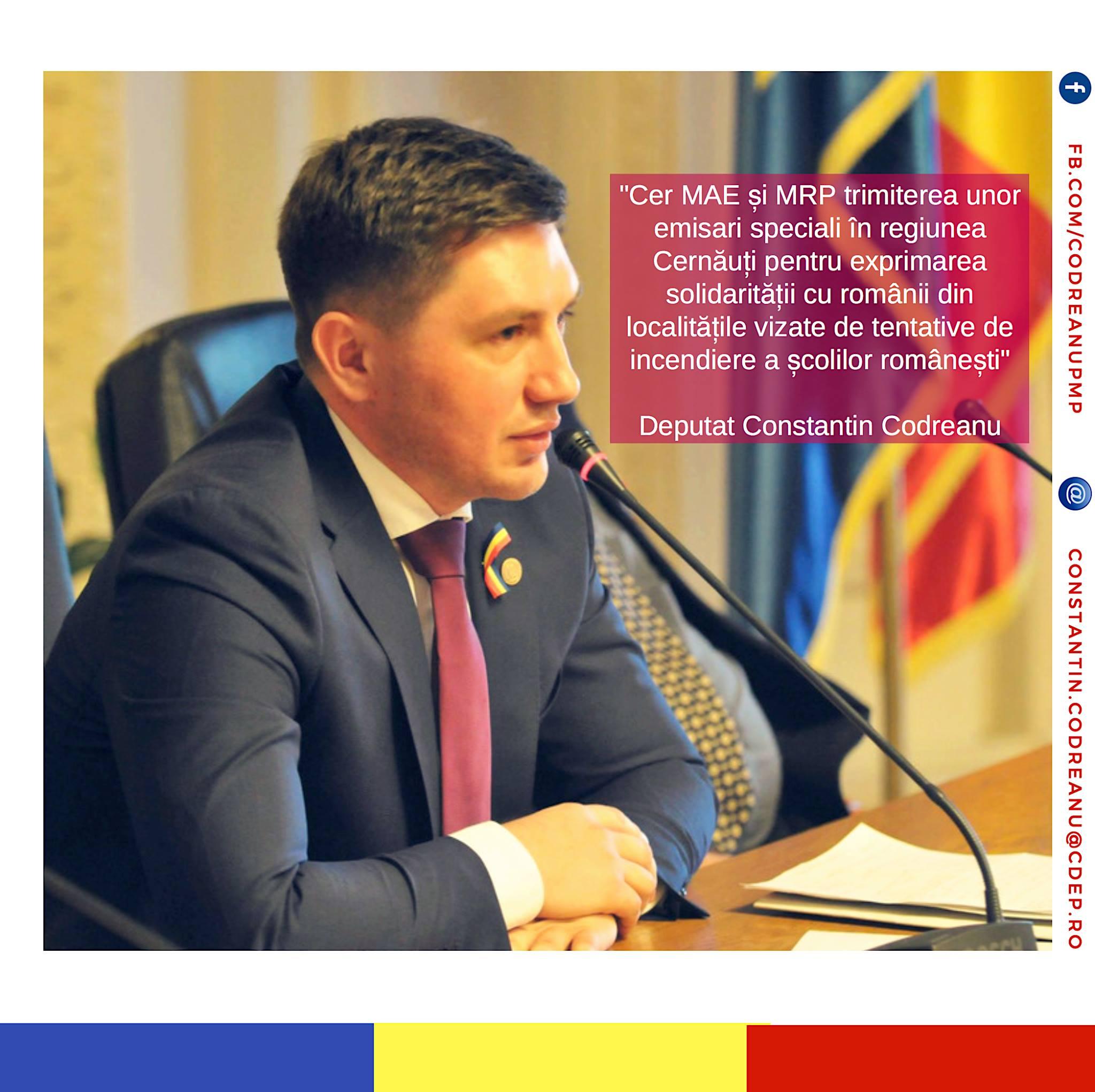 Constantin Codreanu Cernauti Ministerul Afacerilor Externe Ucraina