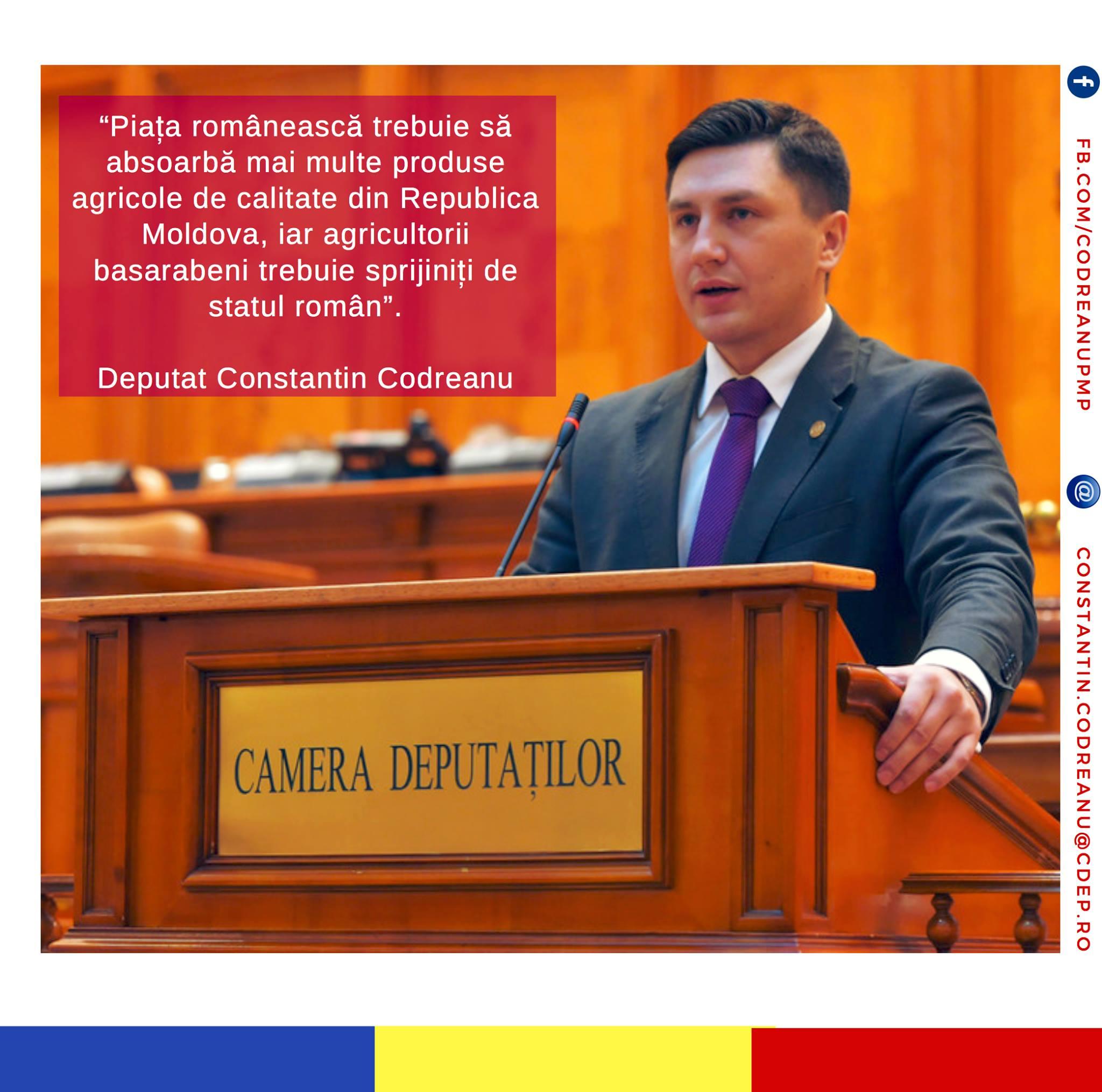 Constantin Codreanu Interpelare agricultorii basarabeni