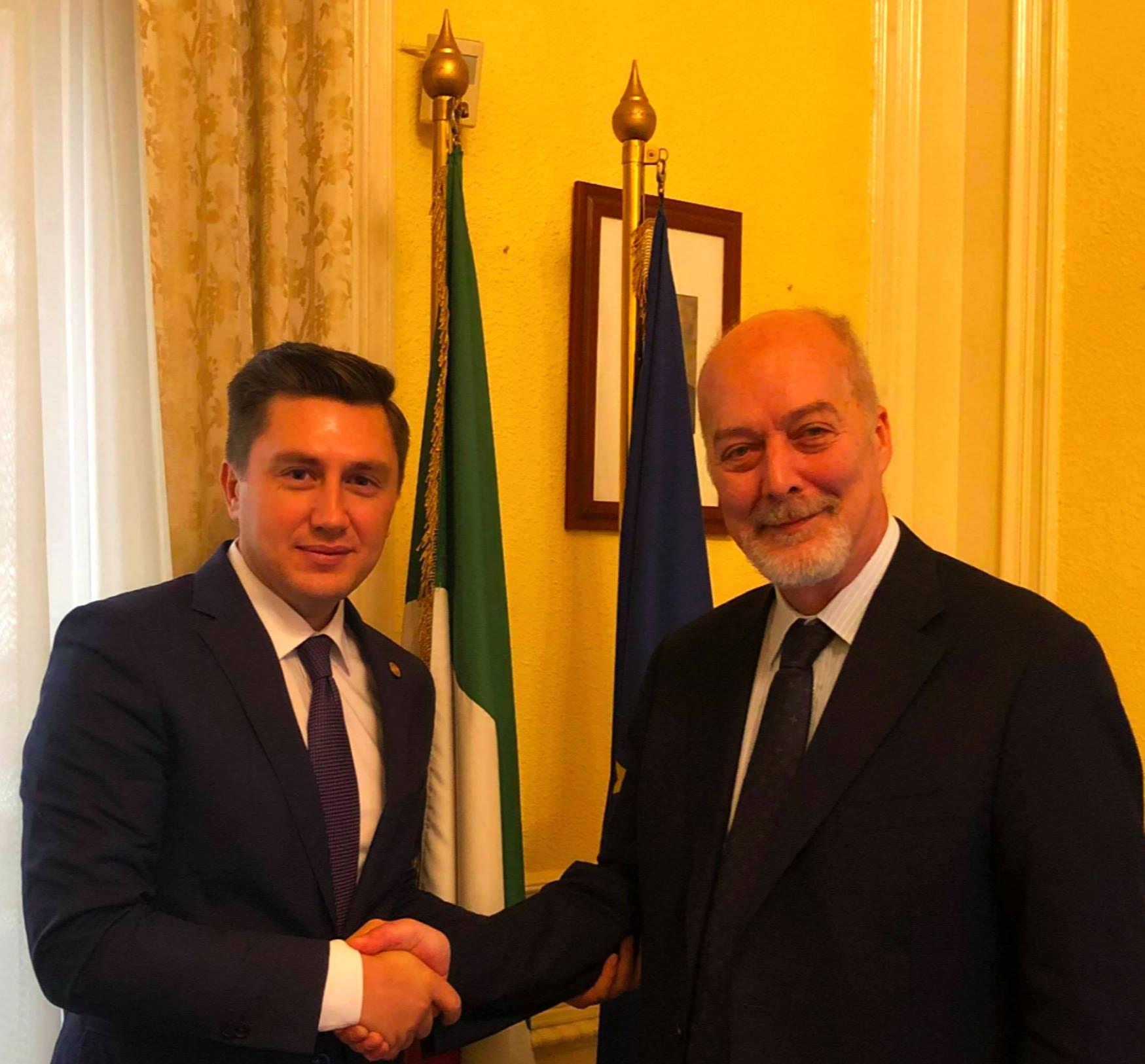 Constantin Codreanu Ambasada Italiei în România