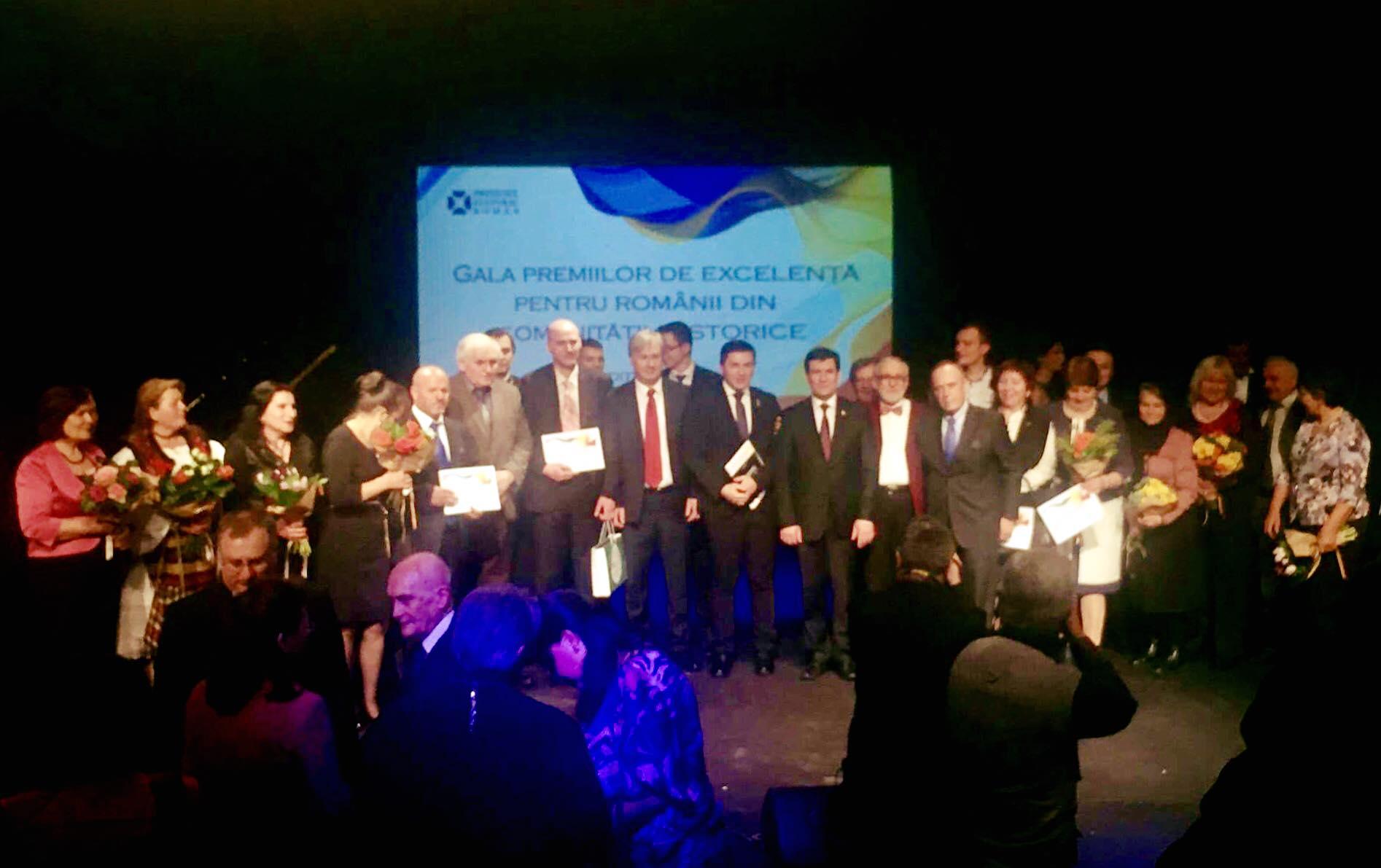 Constantin Codreanu Gala Premiilor de Excelenta Romanii din Comunitatile Istorice