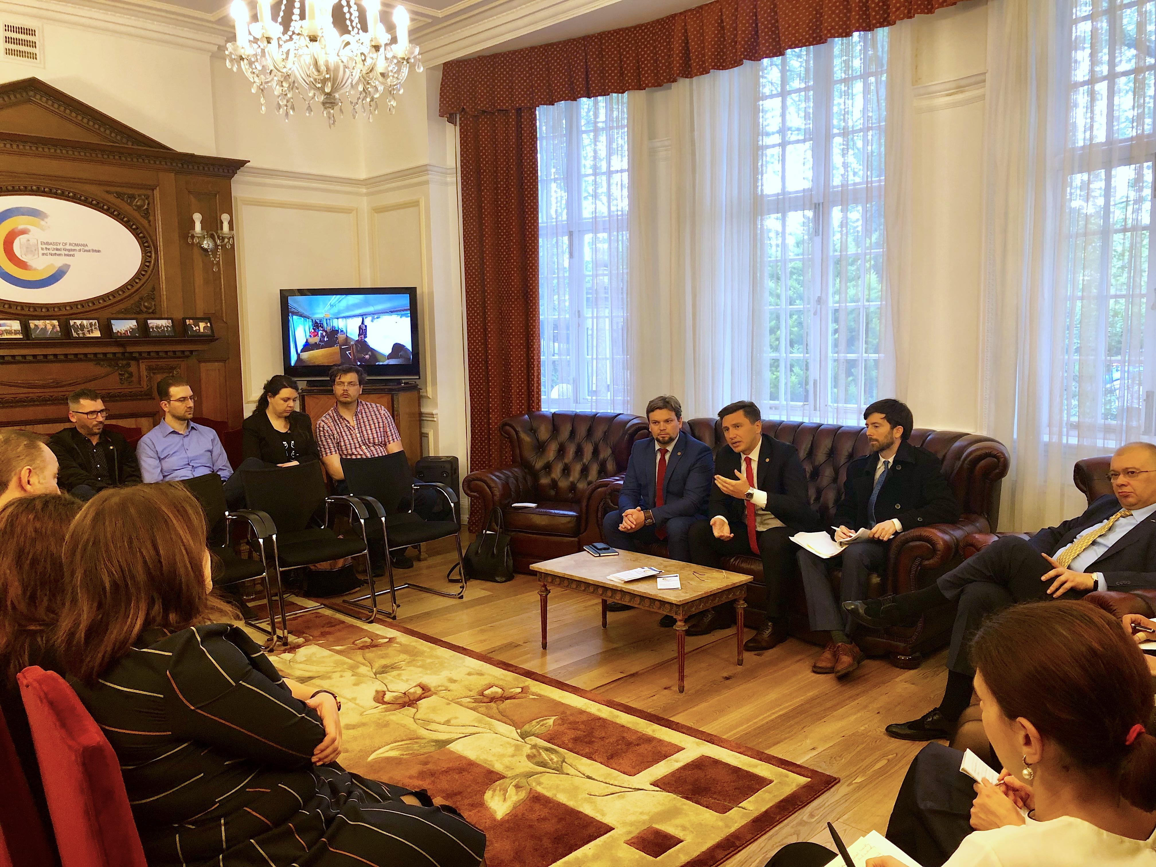 Constantin Codreanu Intalnire Ambasada Romaniei Londra