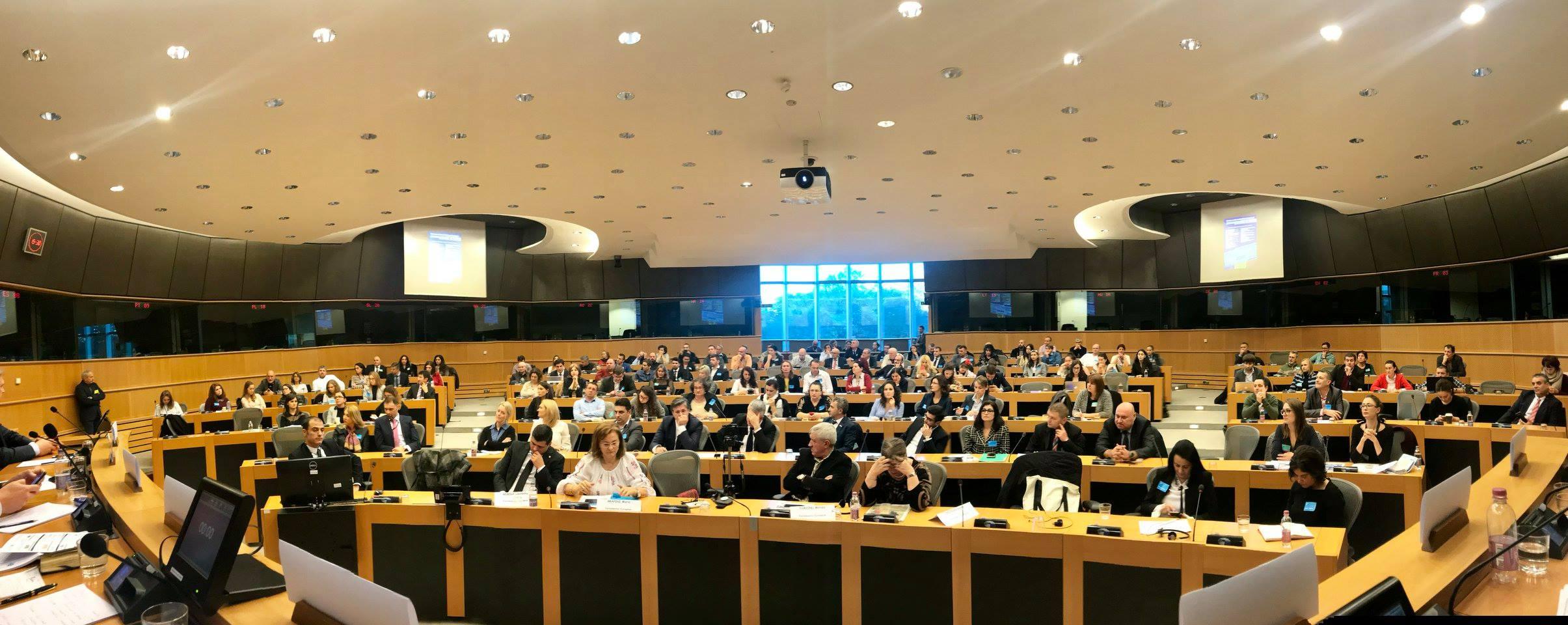 """Dezbaterea cu tema """"Diaspora românească în Uniunea Europeană""""."""