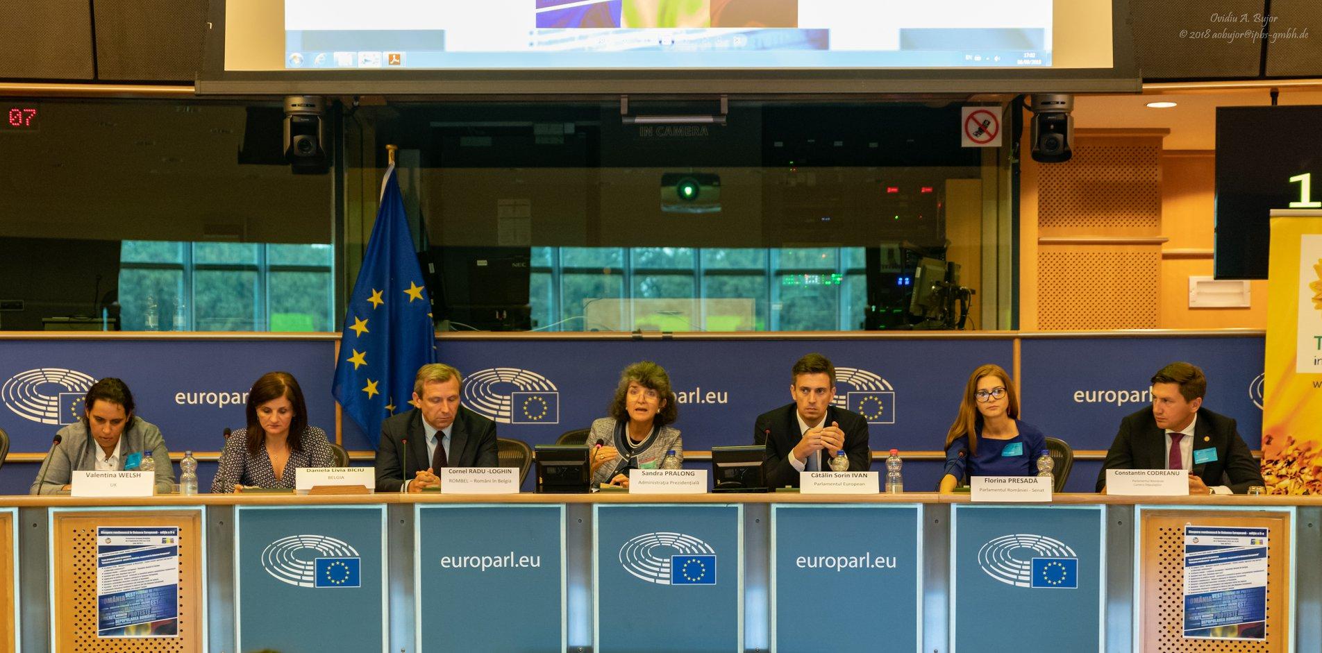 """Dezbaterea cu tema """"Diaspora românească în Uniunea Europeană"""" organizată în Parlamentul European"""