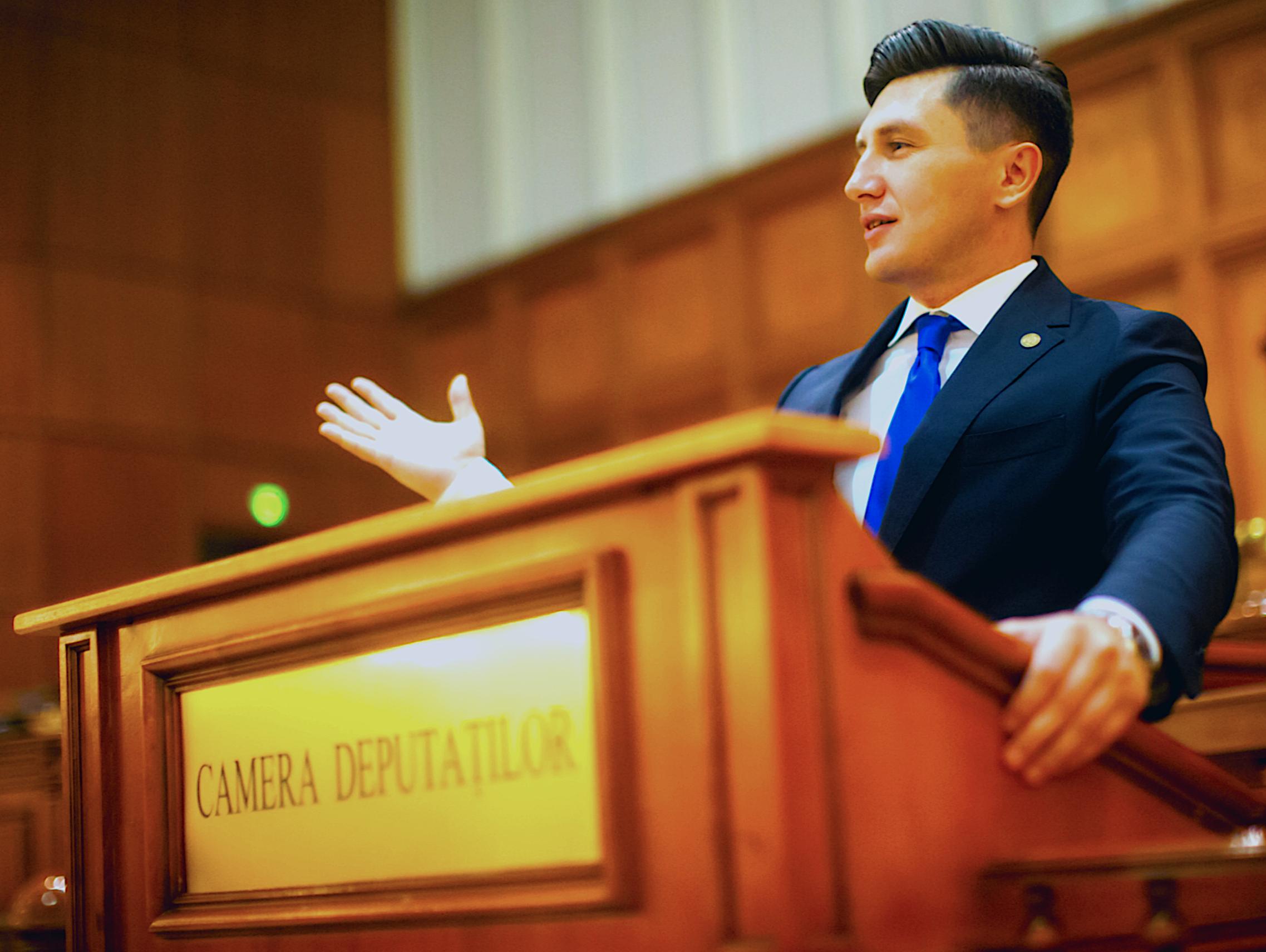 Constantin Codreanu Tribuna Parlament