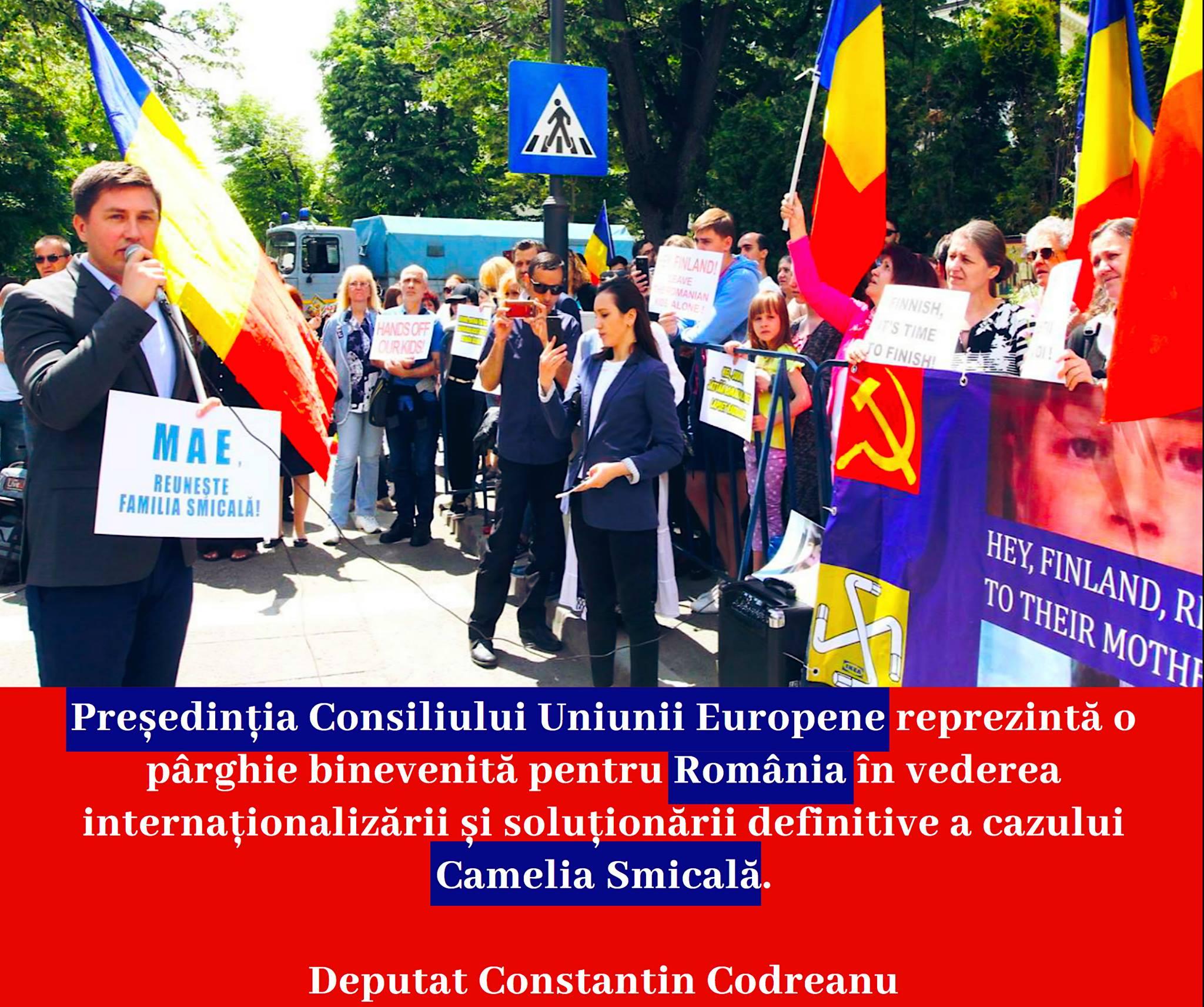 Constantin Codreanu Protest Ambasada Finlandei