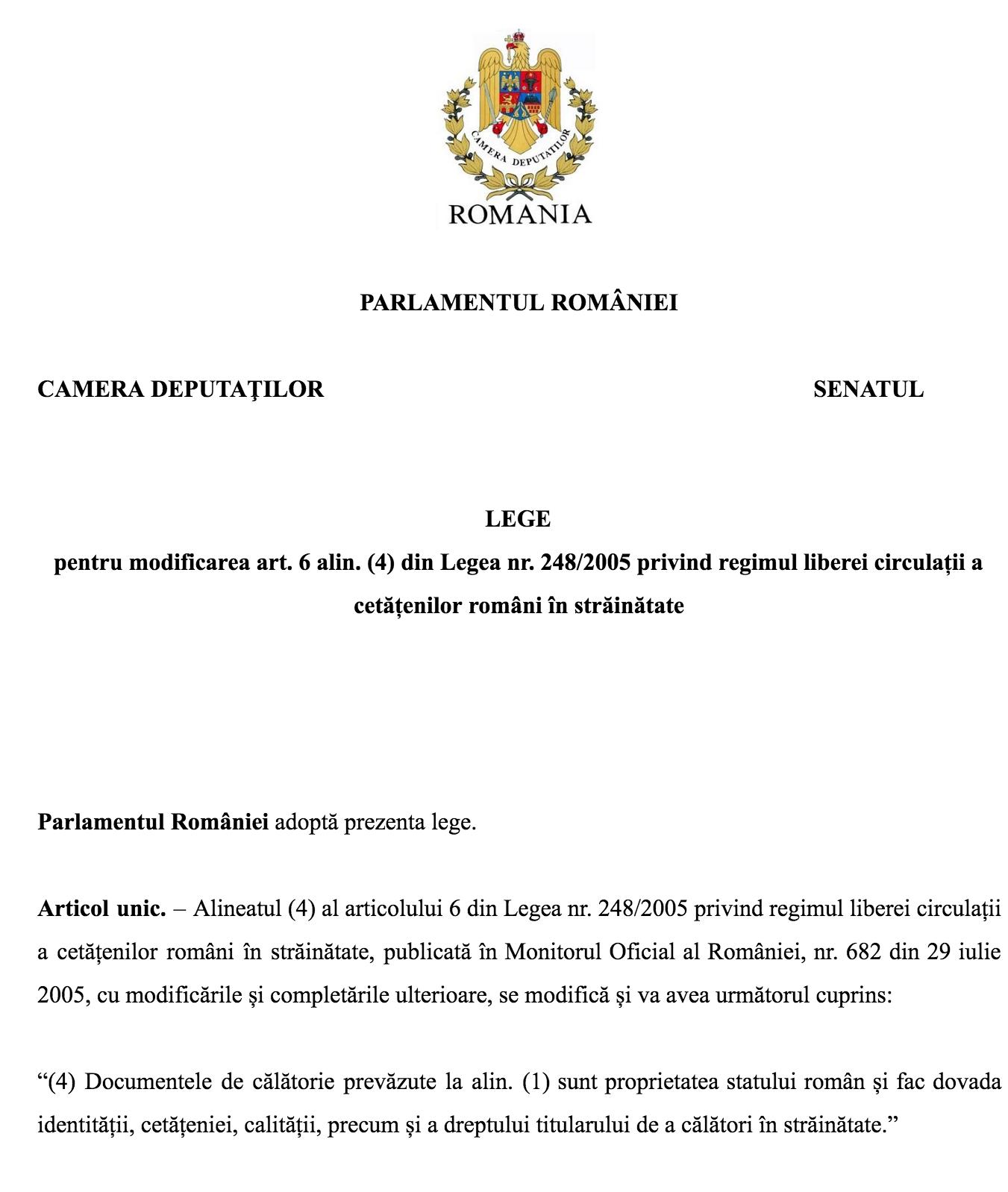 Proiect de lege Constantin Codreanu