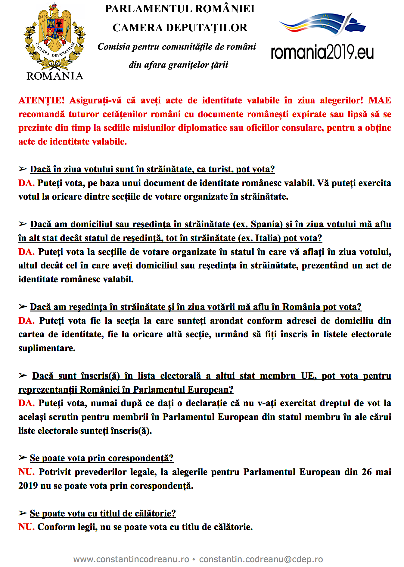Alegeri europarlamentare 2019 Romania