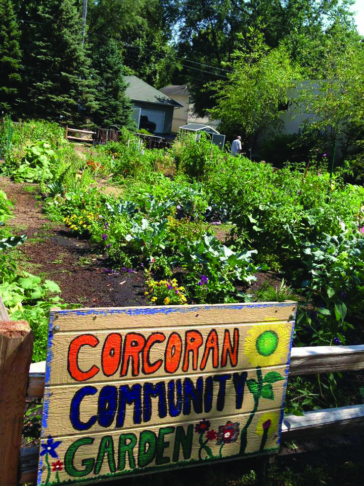 Corcoran Community Garden Sign