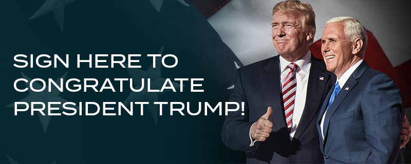 Congratulate President Trump!