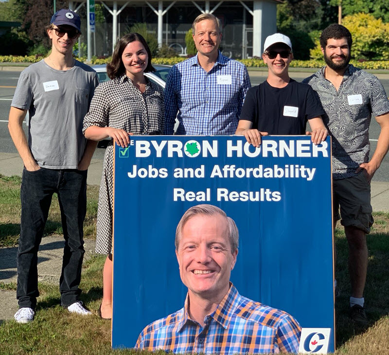 Byron Horner Campaign Youth Volunteers