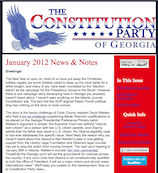 Constitution Party of Georgia - January_2012 News & Notes