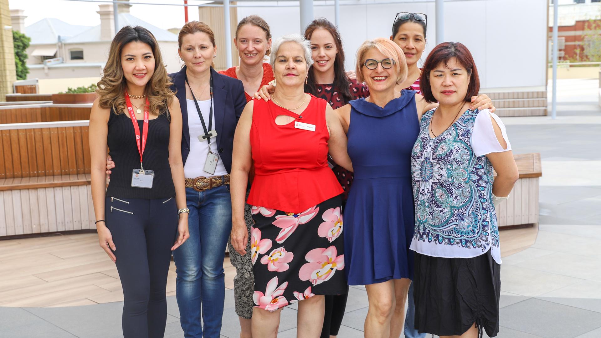 Members of the TAFE Adult Migrant Education Program