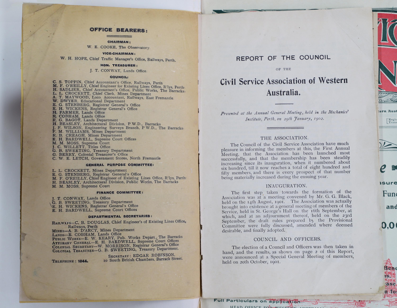 original CSAWA first annual meeting program 1902