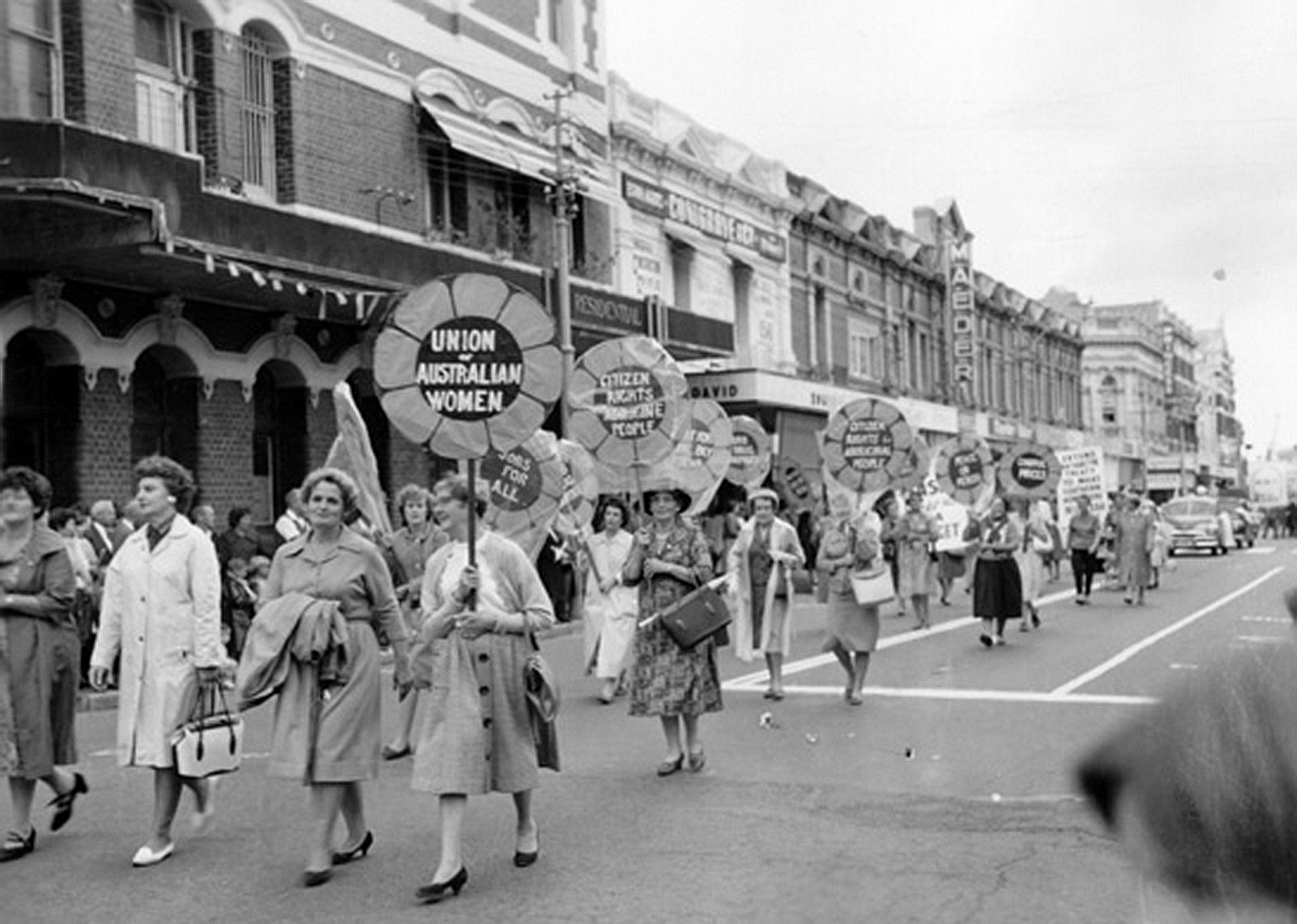 Women march in May Day 1963