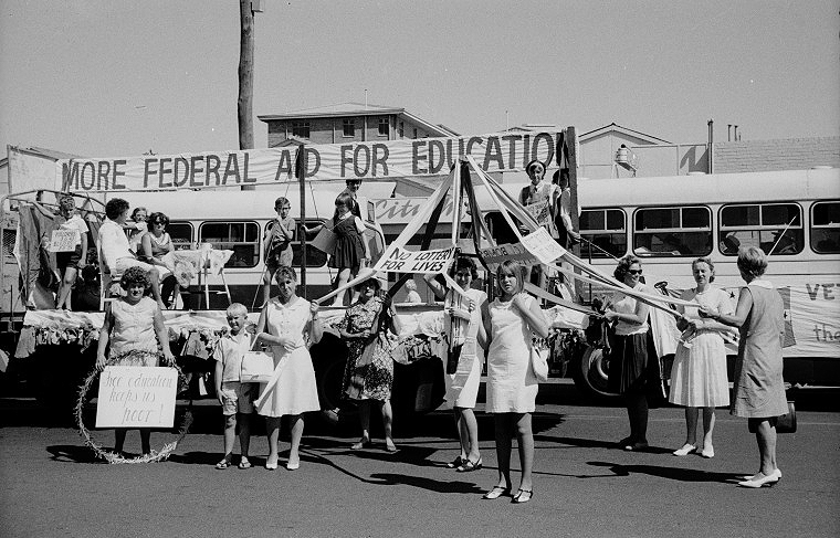 Education funding advocates May Day 1973