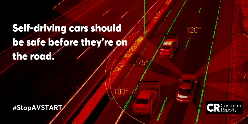 Tell your Senators you want real safety standards for self-driving cars