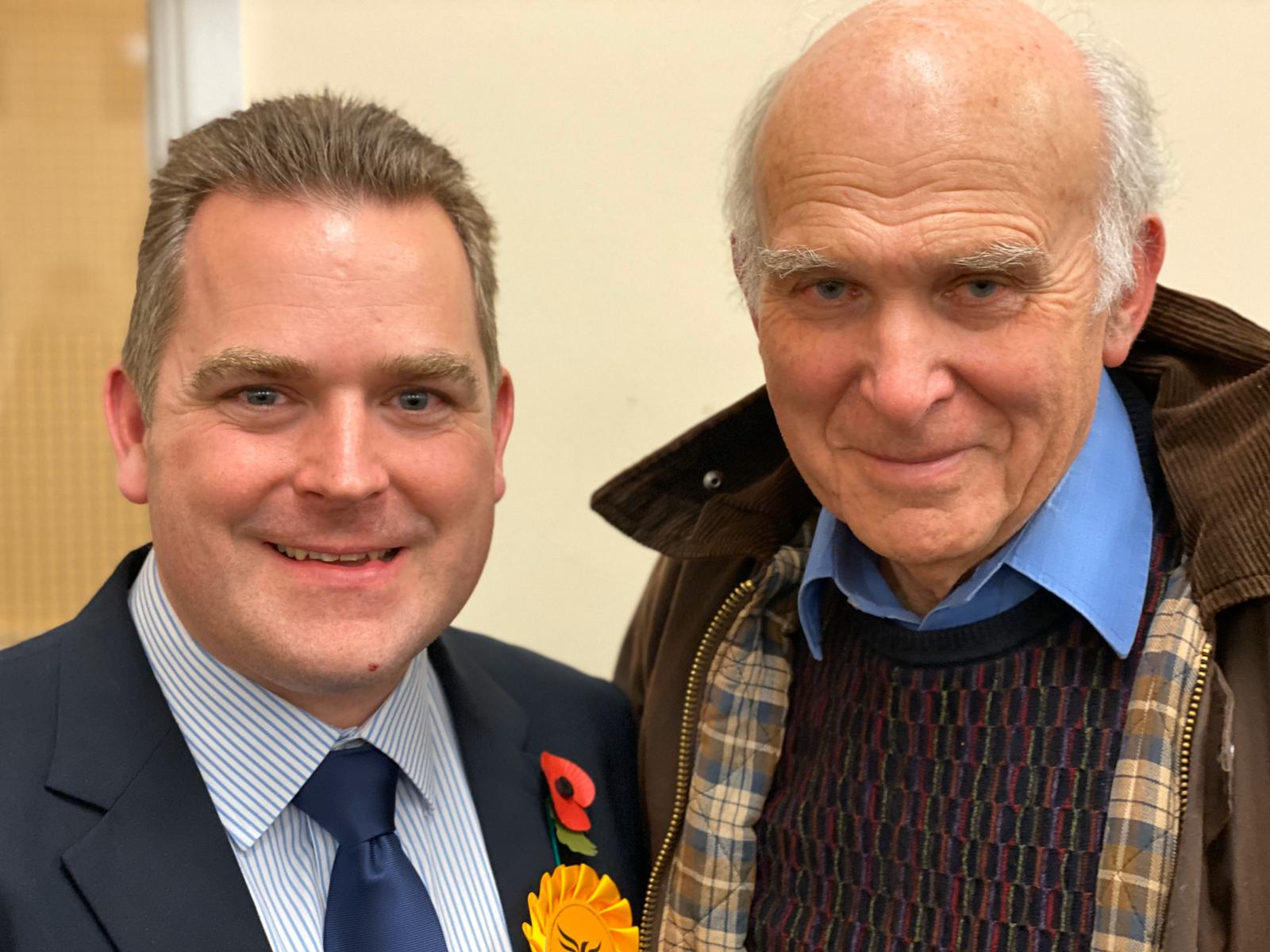 Vince Cable and Craig Fletcher