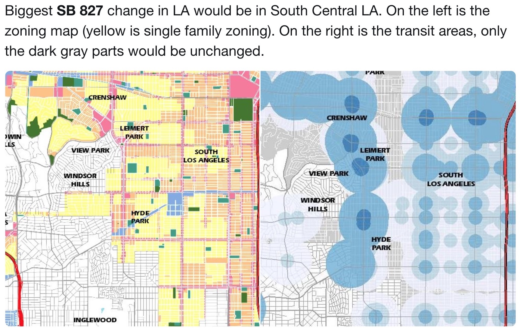 SB 827 would usurp all of the recent South LA's community plan updates -  those years of conversations, workshops and hearings that we engaged in -  to ...