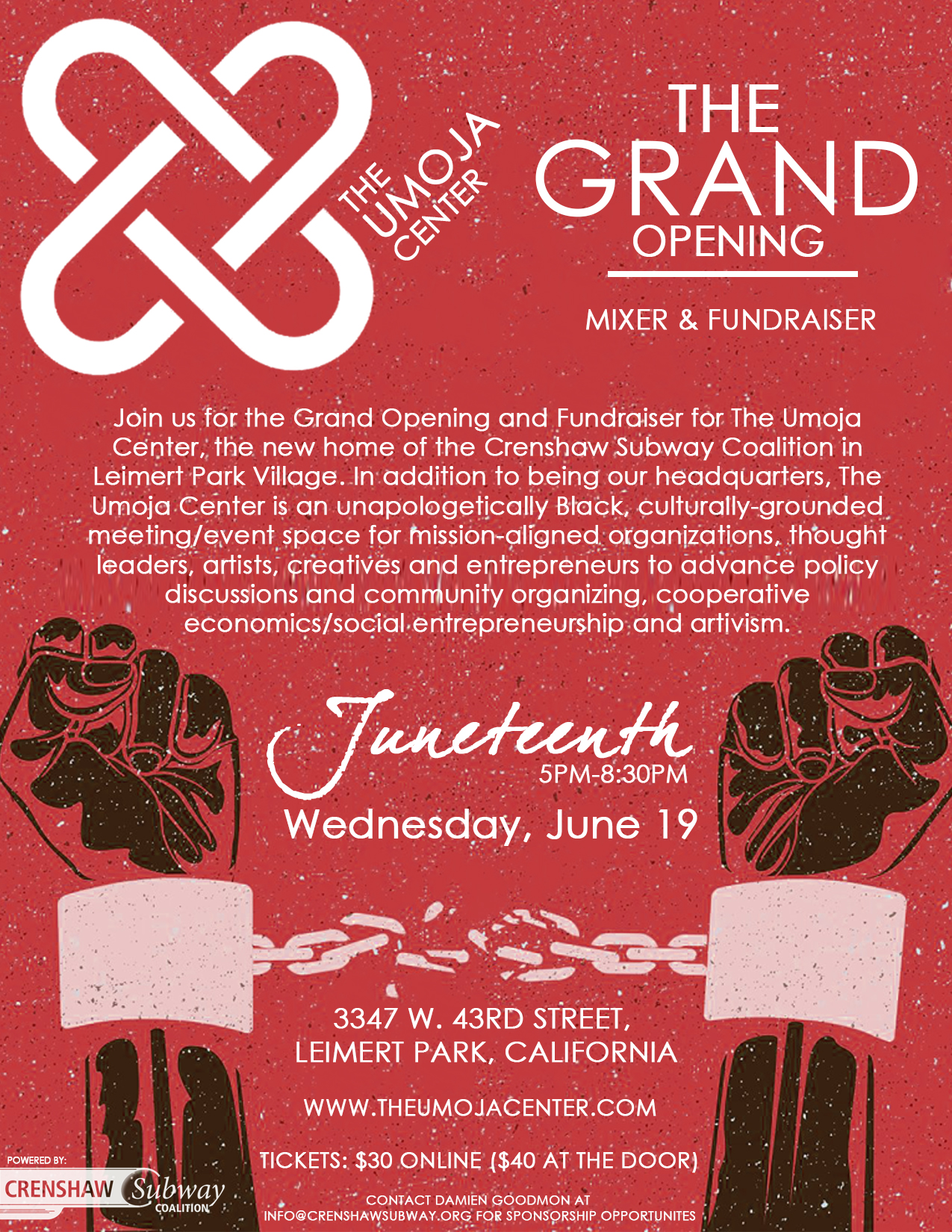 The Umoja Center Grand Opening & Fundraiser