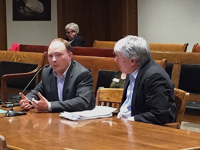 Better Future Project and CREW executive director, Craig Altemose, and Institute for Policy senior scholar and BFP board member, Chuck Collins, testify in front of the  Massachusetts Jt. Committee on Revenue