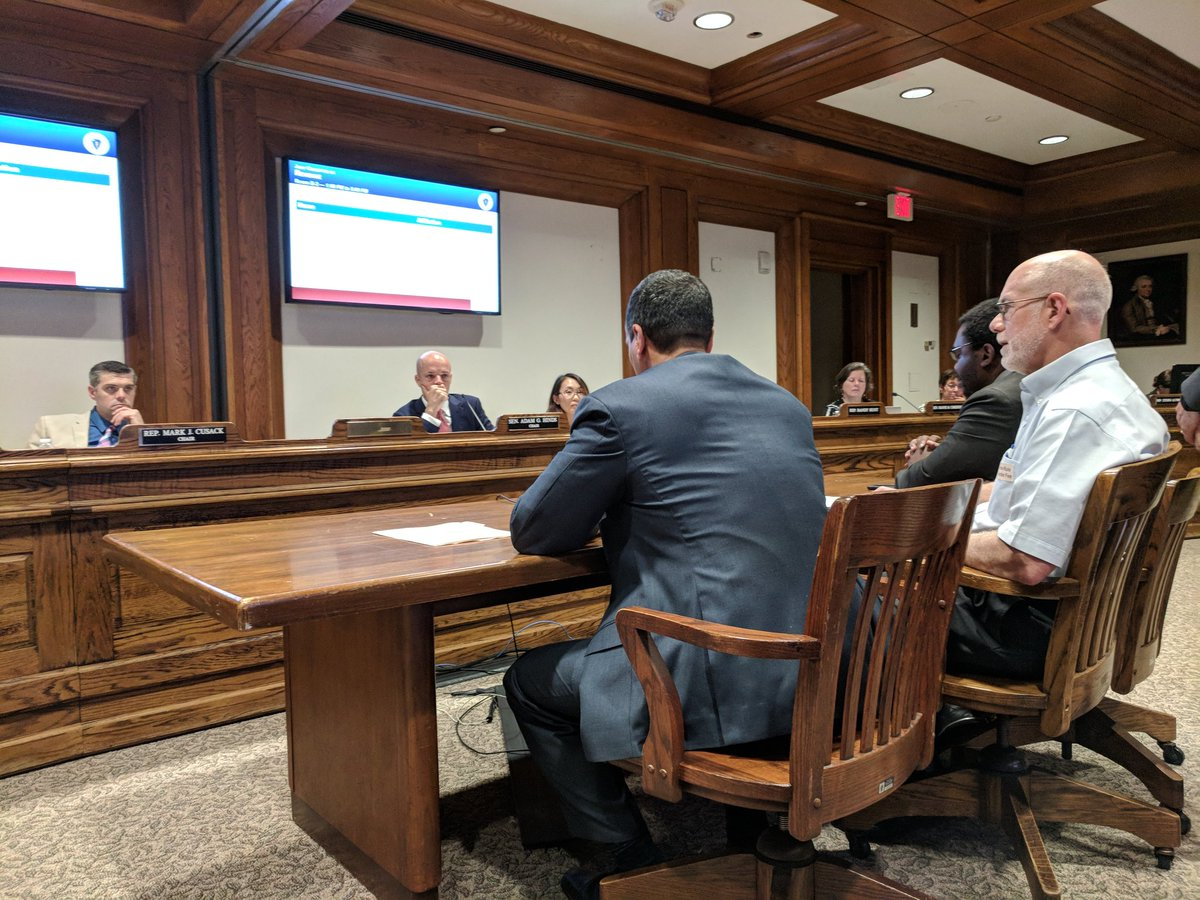Mayor Curatone and panel testifying on the importance of supporting affordable housing in Somerville