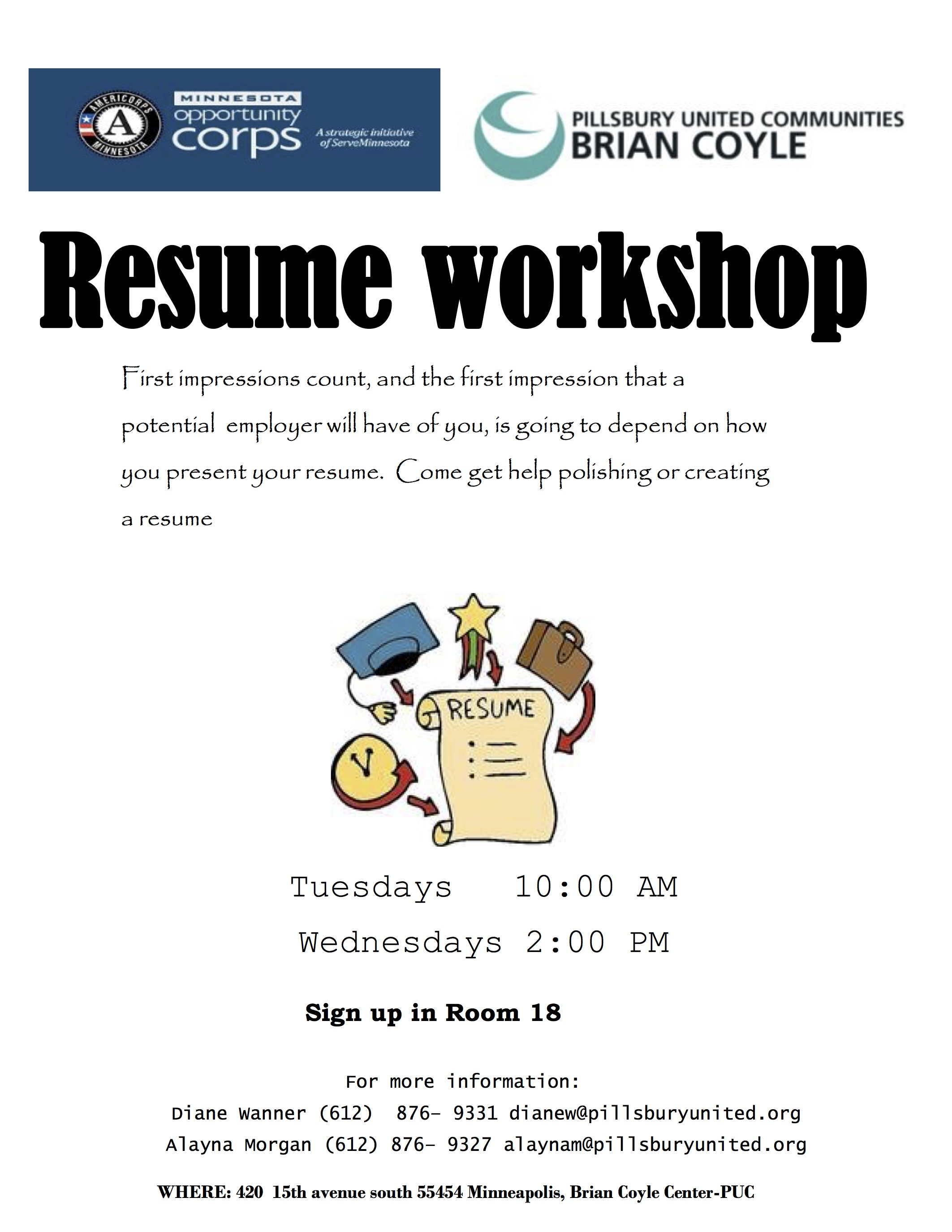 Free Weekly Resume Workshops Cedar Riverside NRP