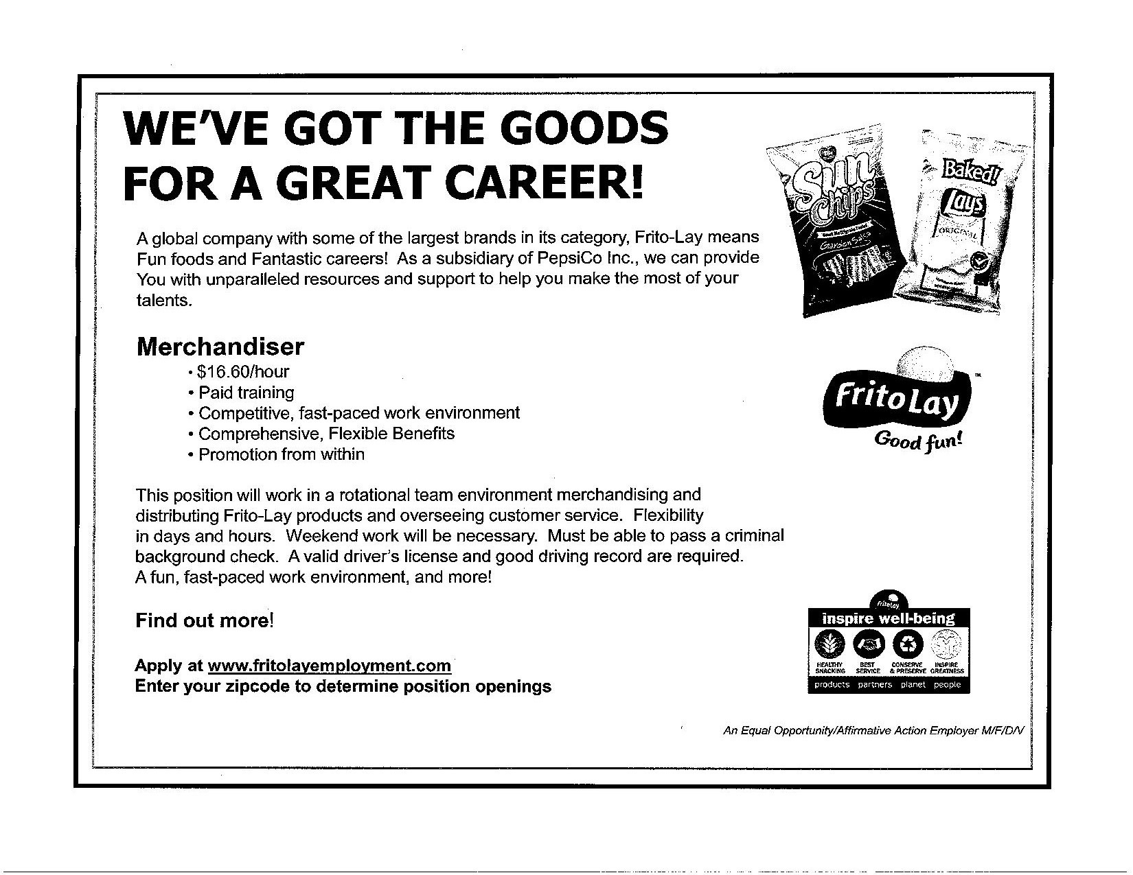 Pepsico Frito Lay Is Hiring Cedar Riverside Nrp