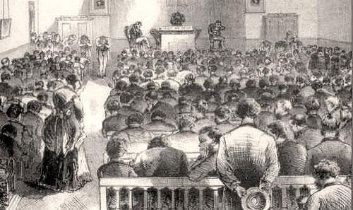 Prayer meeting illustration