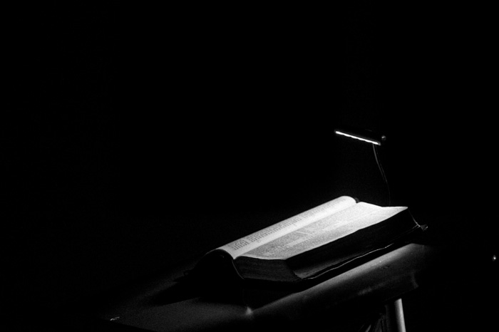 Pulpit in the dark