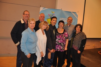 Barry O'Neill with members of CUPE's national and BC child care working groups