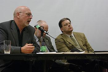 Sewage and P3 panel presenters: Blair Redlin, Dwayne Kalynchuk, John Knappett
