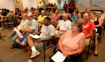 A full house at Monday's city council meeting.