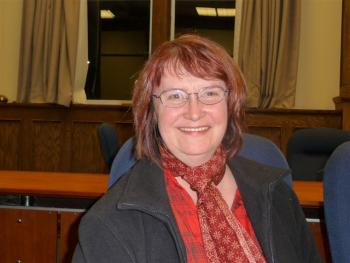 Greater Victoria school trustee Catherine Alpha brought the resolution supporting public sewage treatment before the board of education.