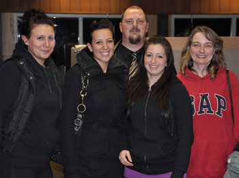 CUPE 1004 members who work at the Stanley Park farmyard with CUPE 1004 president Mike Jackson.