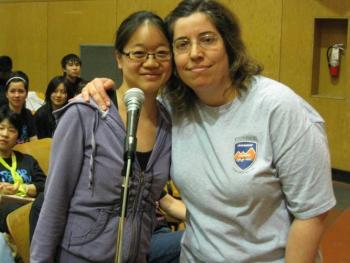 CUPE 15 SEAs Amanda Leung and Aurlee Parpara spoke up for students.