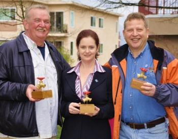 Tappie winners left to right: Derek Corrigan, Lori Watt and Bob Ages
