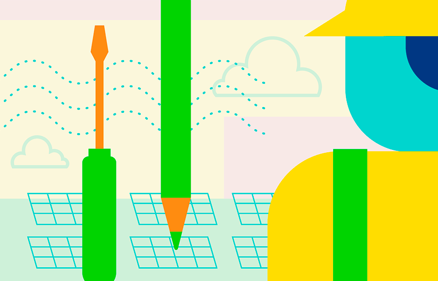 Illustration for Green Jobs for the Future
