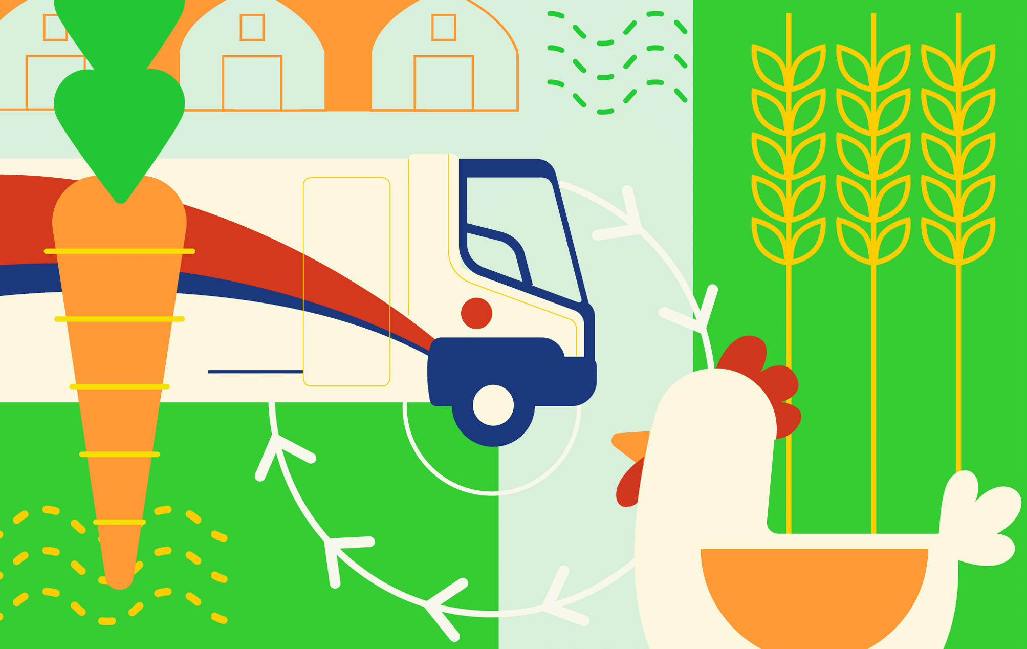 Composite illustration of Local Food Systems