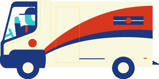 Illustration d'un camion de Postes Canada