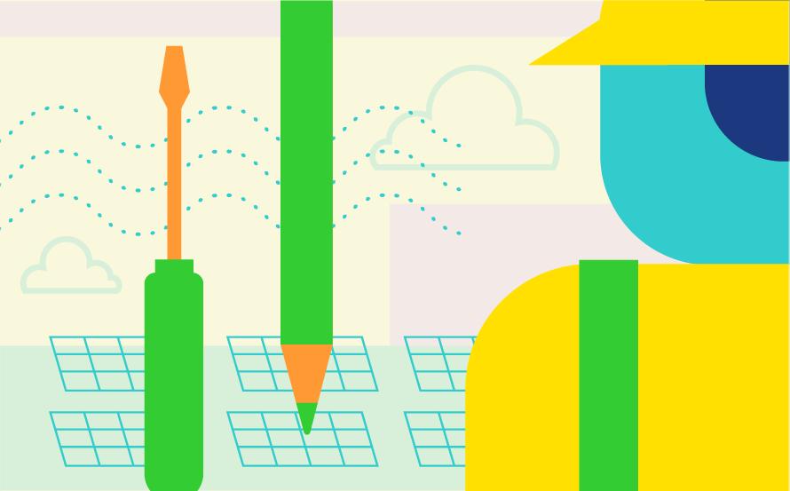 Illustration d'emplois verts pour l'avenir
