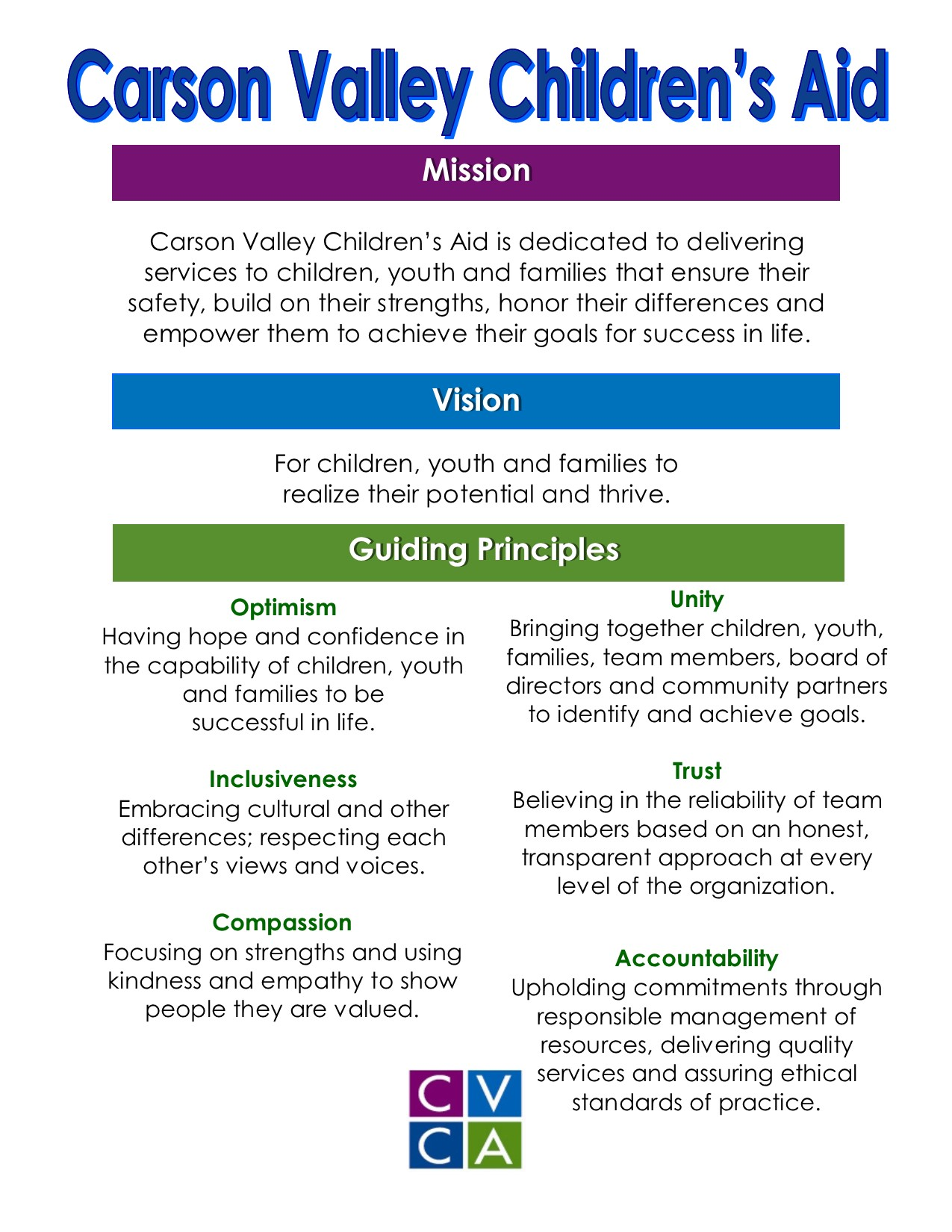 guiding principles on life visions The following vision statement and guiding principles were developed in february 2007 by the founding committee of parents guiding principles.