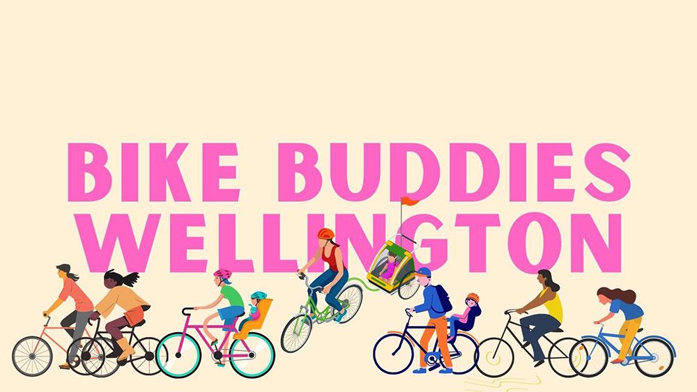 Bike buddies banner logo