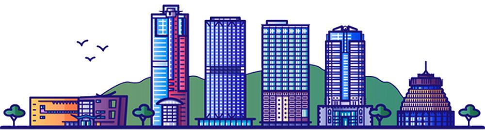 City scape illustration.