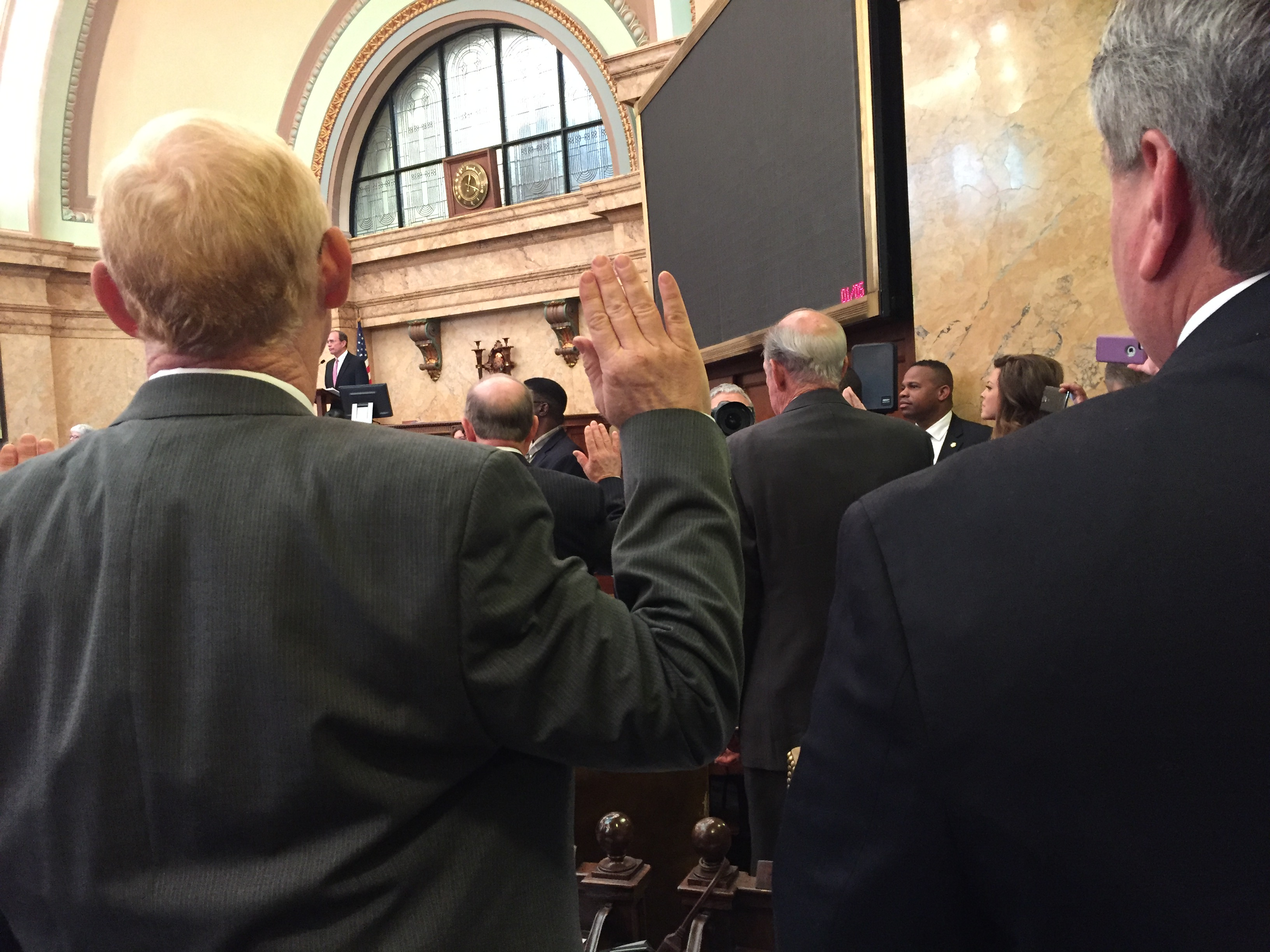 Desoto County Representatives Dana Criswell and Steve Hopkins take the Oath of Office