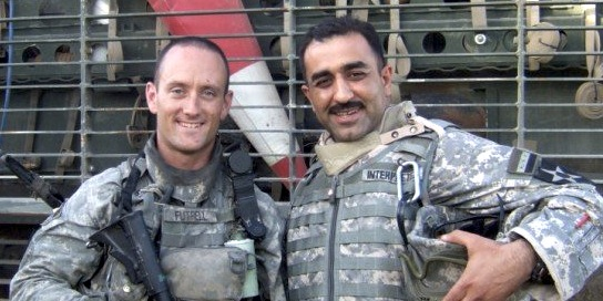 Dan with his interpreter in Iraq, 2007