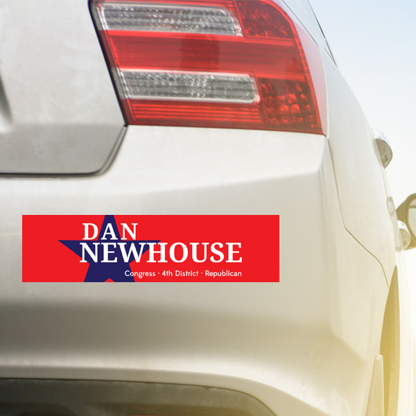 Dan_Newhouse_Bumper_Sticker_on_Car.png