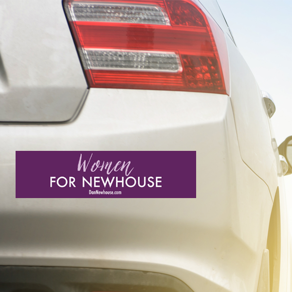 Women_for_Newhouse_Bumper_Sticker_on_Car.png
