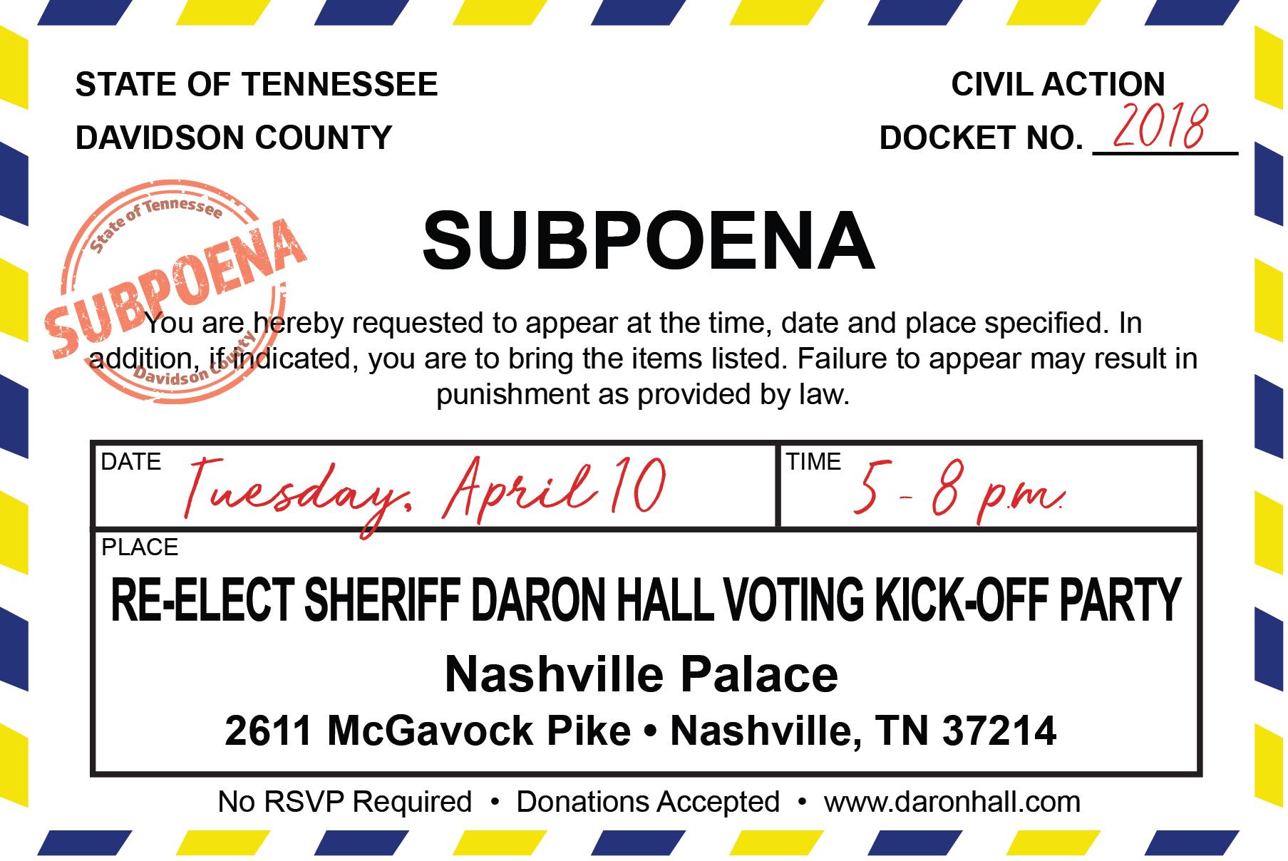 Daron Hall for Sheriff